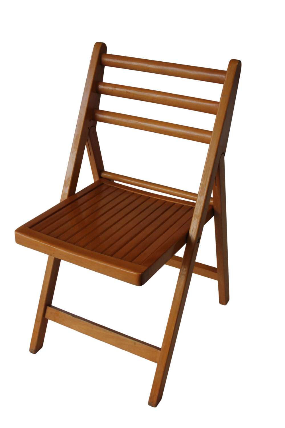 Natural timber folding chair for hire