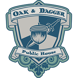 Oak and Dagger Public House We fashion ourselves a public house because we want to harken back to the days when the local pub was the social center of the community.  It is more than just beer and food, it is about the atmosphere, the entire social experience.  Stop by today for some amazing beer, delicious food and a good time.