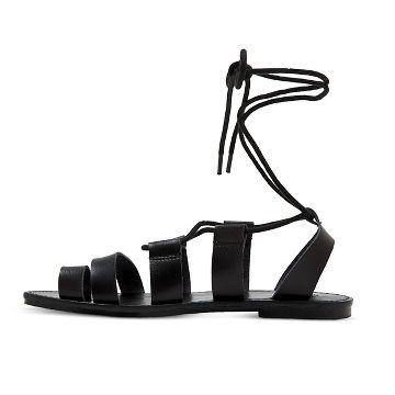 Faux Leather Lace Sandals