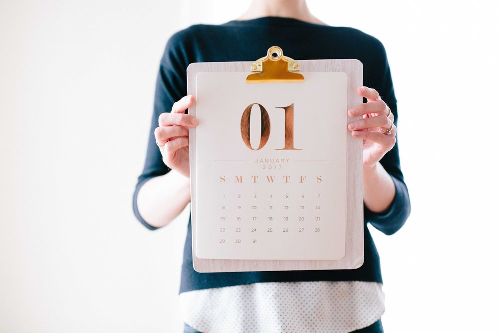 Calendar for month