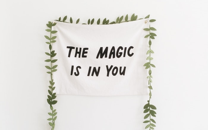 The magic is in you quote banner canvas