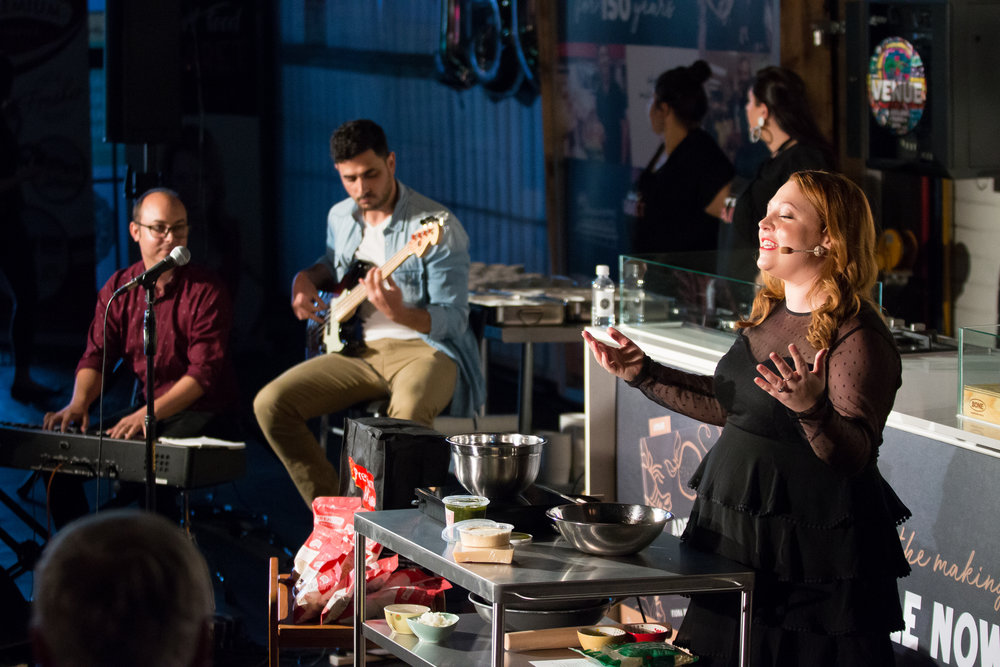 Opening night of Comfort Food Cabaret by Michelle Pearson at the Adelaide Central Markets during the 2019 Adelaide Fringe