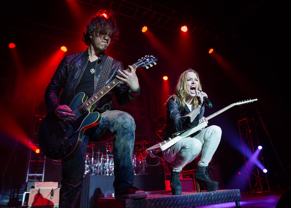 Joe Hottinger and Lzzy Hale of Halestorm