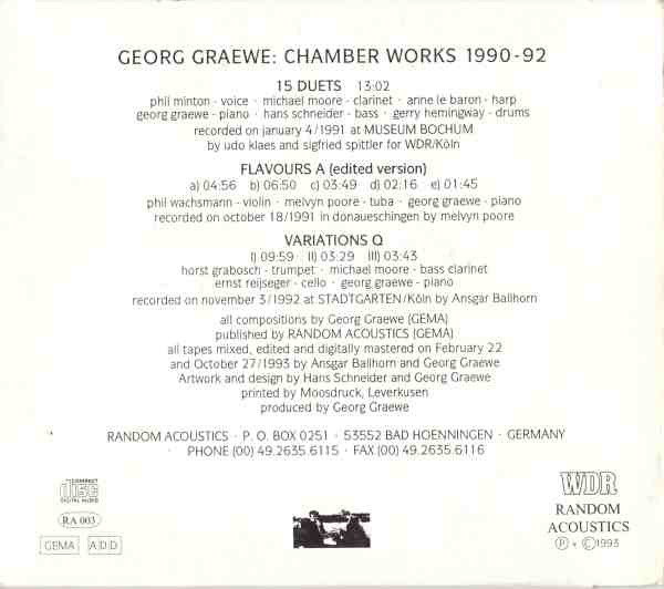 Georg Graewe Chamber Works