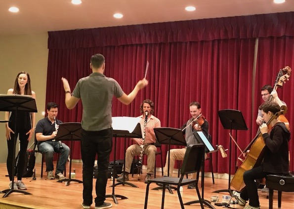 Rehearsing IS MONEY MONEY at the Pasadena Conservatory of Music