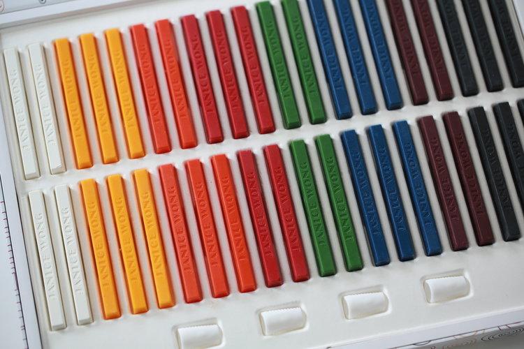 chocolate crayon box of 40 janice wong online