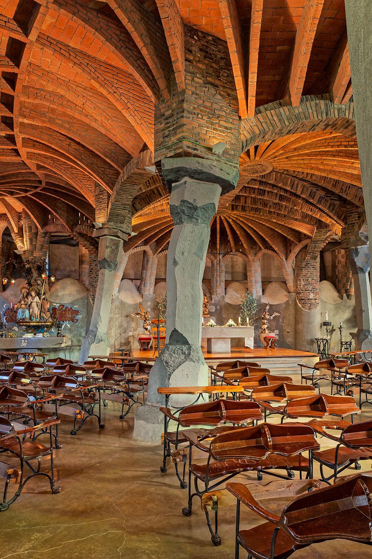 Gaudí Crypt  | Antoni Gaudí | Sta. Coloma de Cervelló, Barcelona