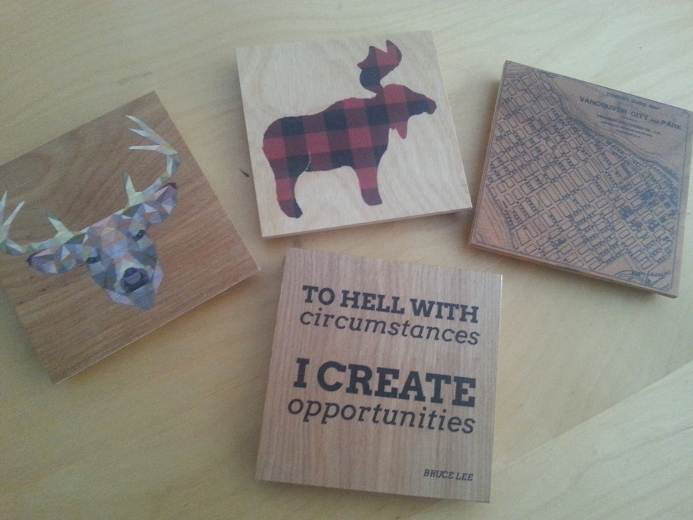 Locally made coasters