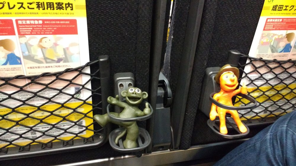 Smiley Little Dudes have their own seats