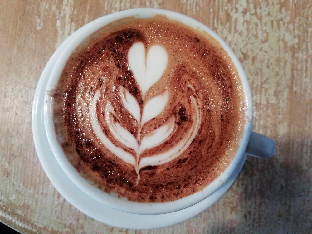 Brewlab's hot chocolate