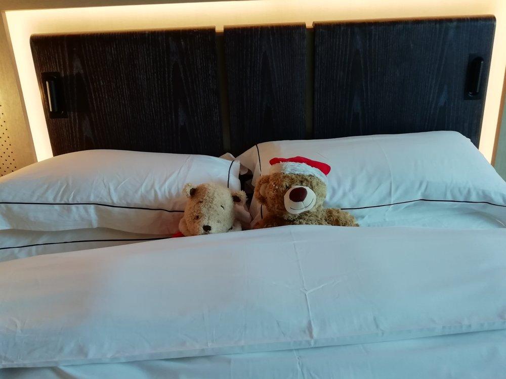 Housekeeping having fun with the Christmas Bears