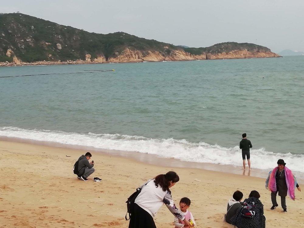 The beach at Cheung Chau