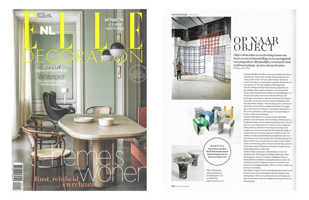 Elle Decoration feb / maart 2018