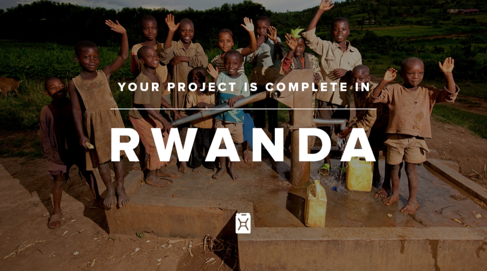 On our 1st anniversary back in 2013, we raised a total of SGD$3947.80 for charity: water towards a new clean water project in Rwanda. Last week, we were updated that the piped water project to bring clean water to 252 people is finally completed! Thank you again for your amazing support and we hope to make a bigger difference again come May when we turn 3!