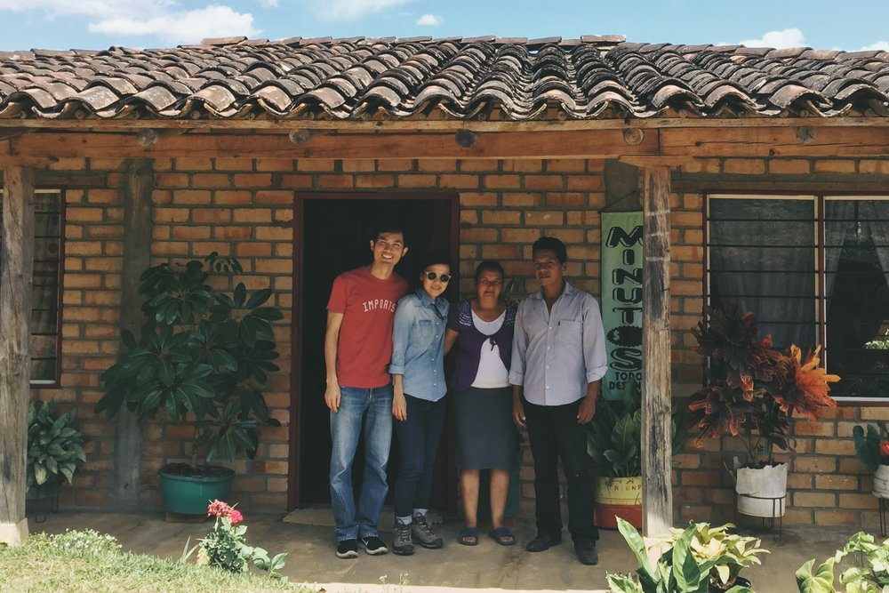 With Martha and Luis Alberto at El Naranjal.