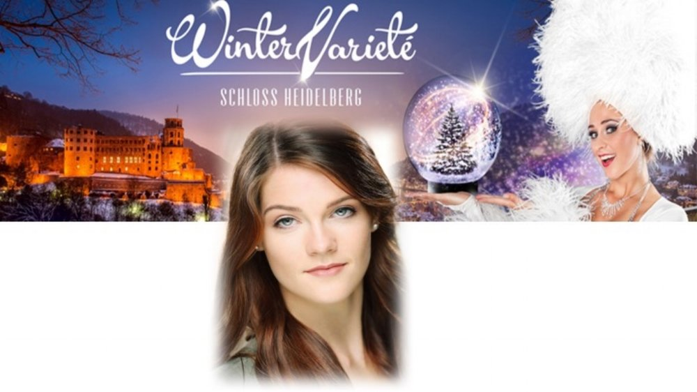 Sophie Featherstone high kicks into Winter Variete in Heidelberg, Germany