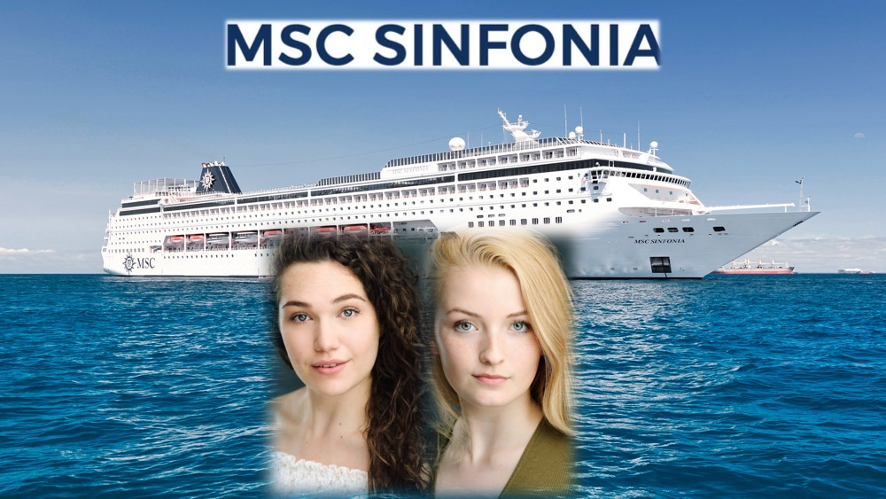 LINK Urdang graduates Kirsty Harvey and Stacey Monahan are now appearing as dancers aboard MSC cruise ship Sinfonia.