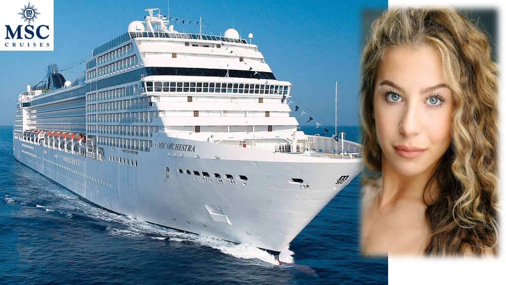 LINK Urdang graduate Zoe Poluck is all onboard MSC Cruise ship MSC Orchestra as Dancer.
