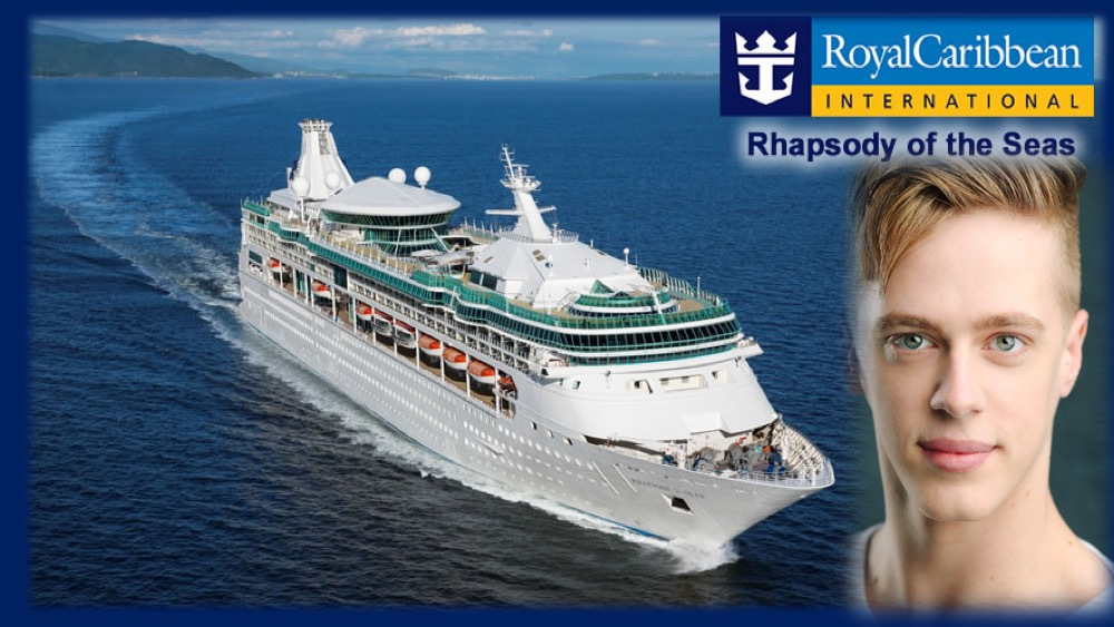LINK Urdang graduate Dominic Booth is now on board Royal Caribbean cruise ship Rhapsody of the Seas as Dancer.