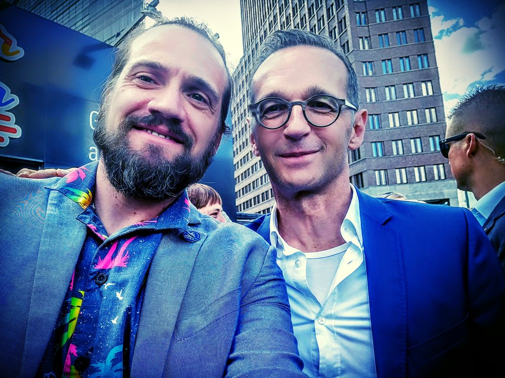 Explainable Daniel with German Minister of Foreign Affairs  Heiko Mass.
