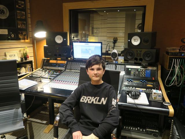 September - It was a pleasure having 12-year old Ari Stephenson in the studio recording