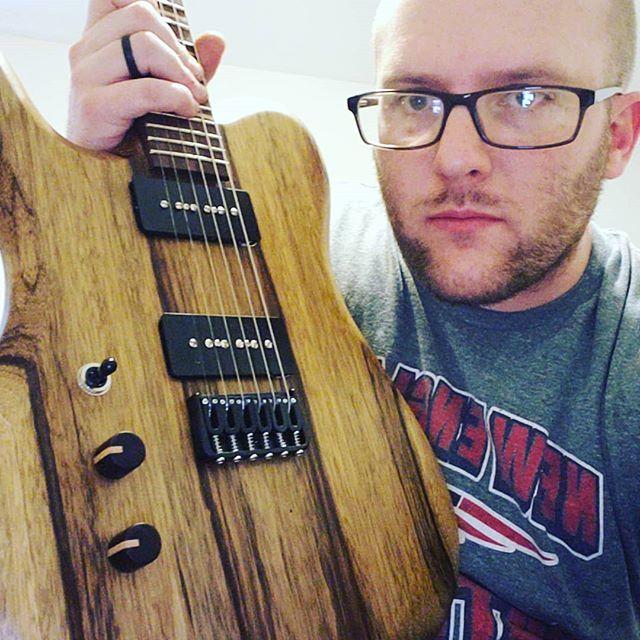 I built this for you. 😛😛🤘🤘 #6string #guitar #guitarporn #guitarplayer #electricguitar #guitare #guitarra #guitarspotter #guitargear #guitartune #gtr #guitarworld #guitarsofinstagram #premierguitar #guitarpost #instaguitars #guitargeek #guitarlife #makersgonnamake #musician #music # woodworking #woodporn #handmade #handcrafted #newhampshire