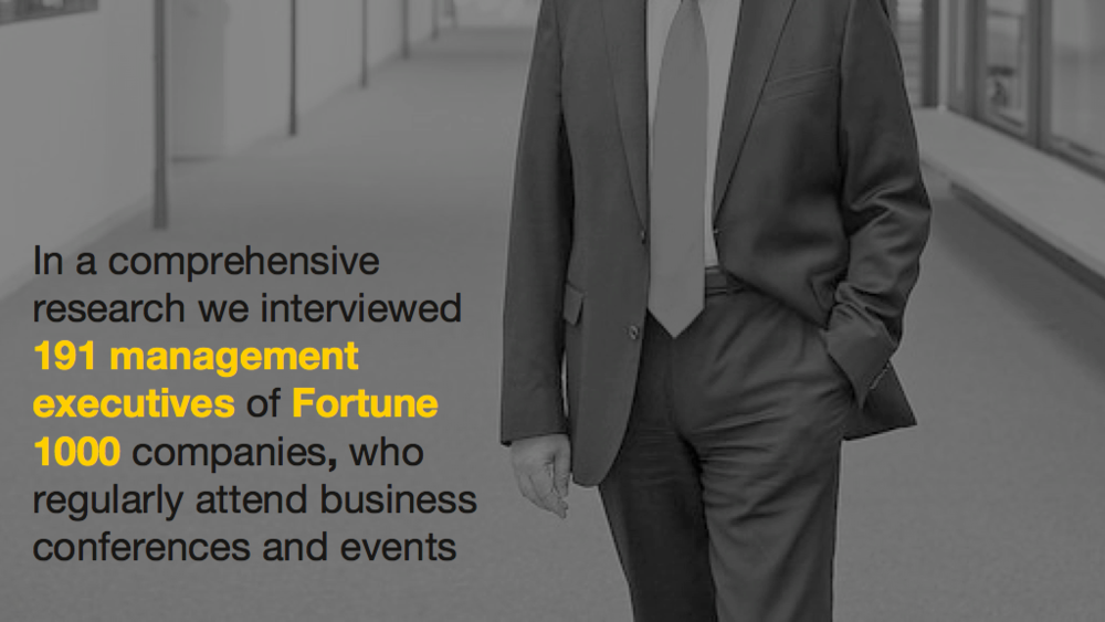 Survey on conferencing behaviours of Fortune 1000 executives