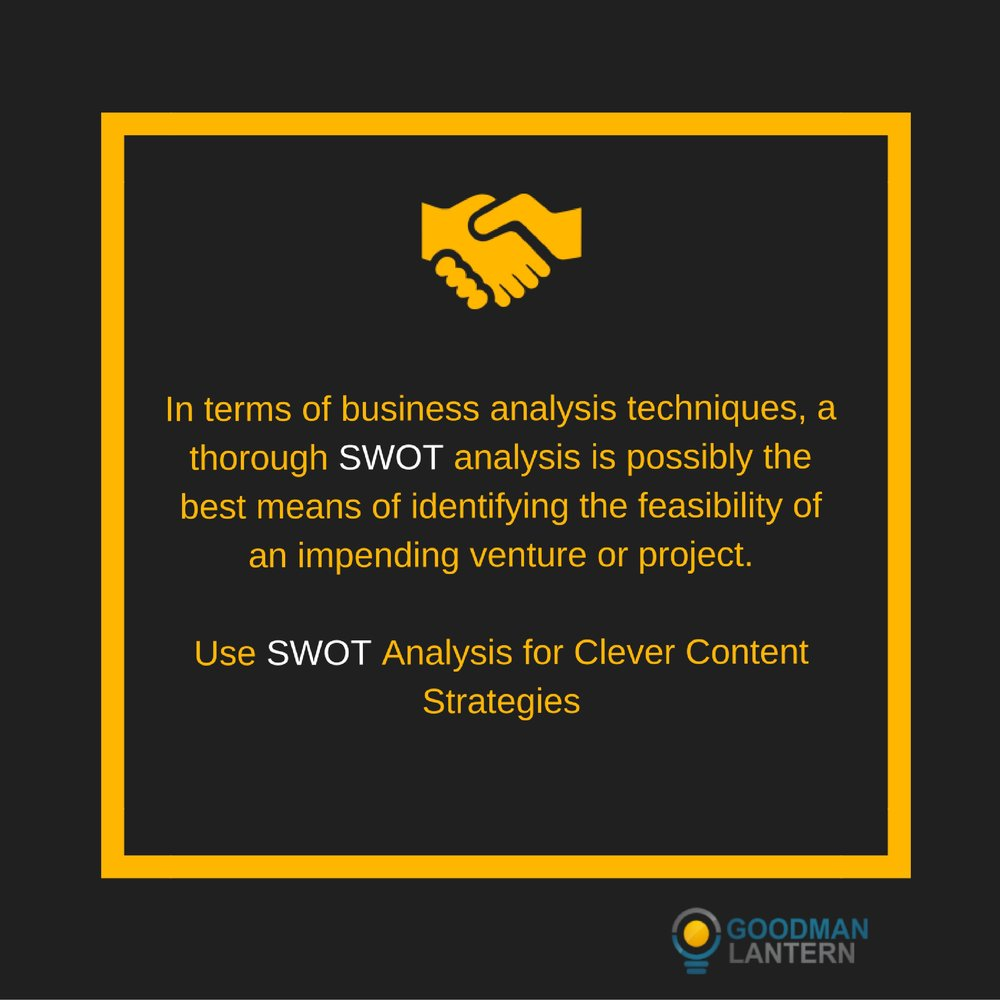 using swot analysis for clever content strategies goodman lantern