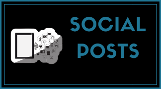 Social media posts in packs of 12 for every popular platform including Facebook, Twitter, LinkedIn, and Instagram.