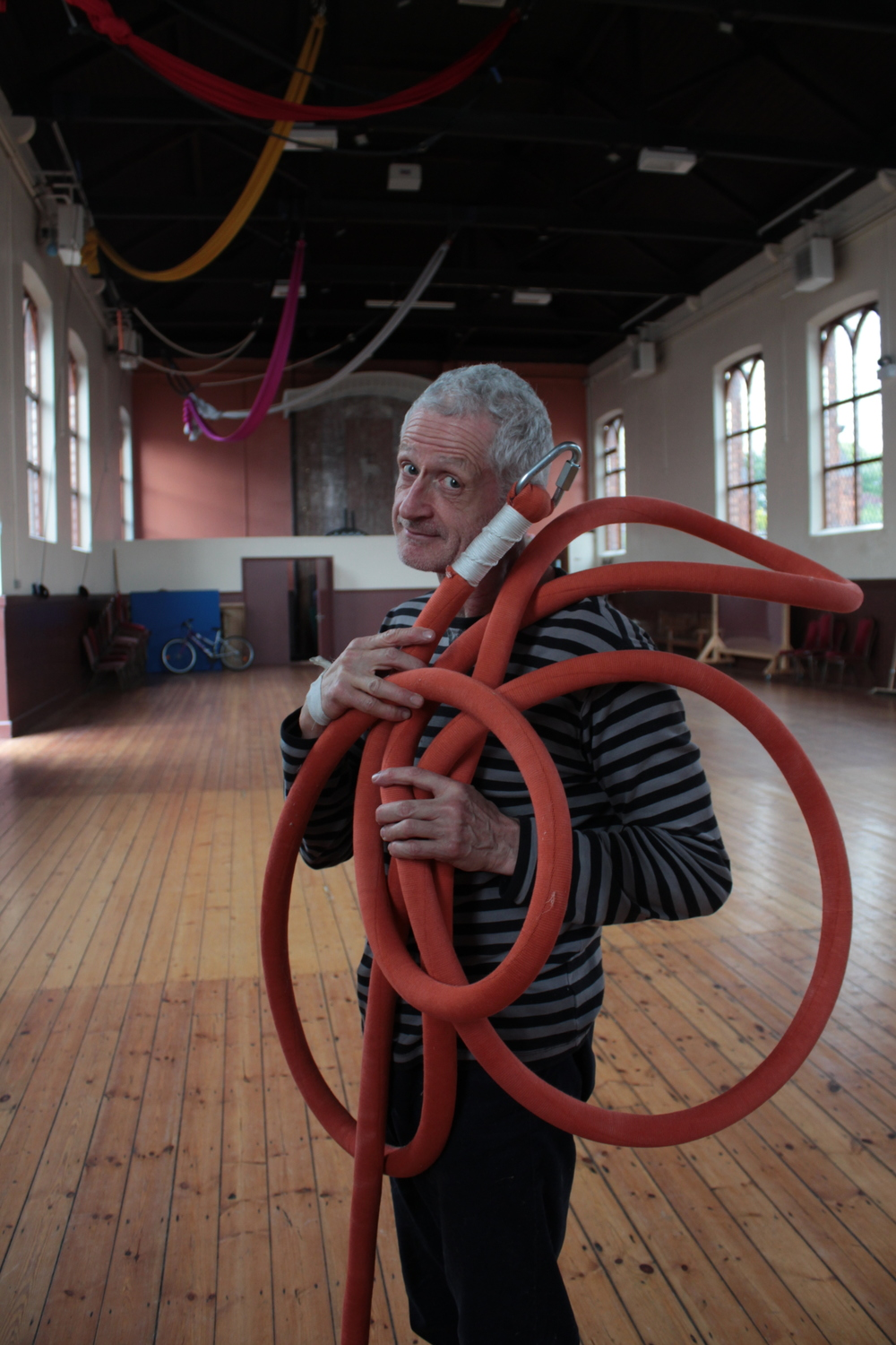 Bernard Bru (AUS/ FR), Building Trapeze & Rope workshops, July 2016