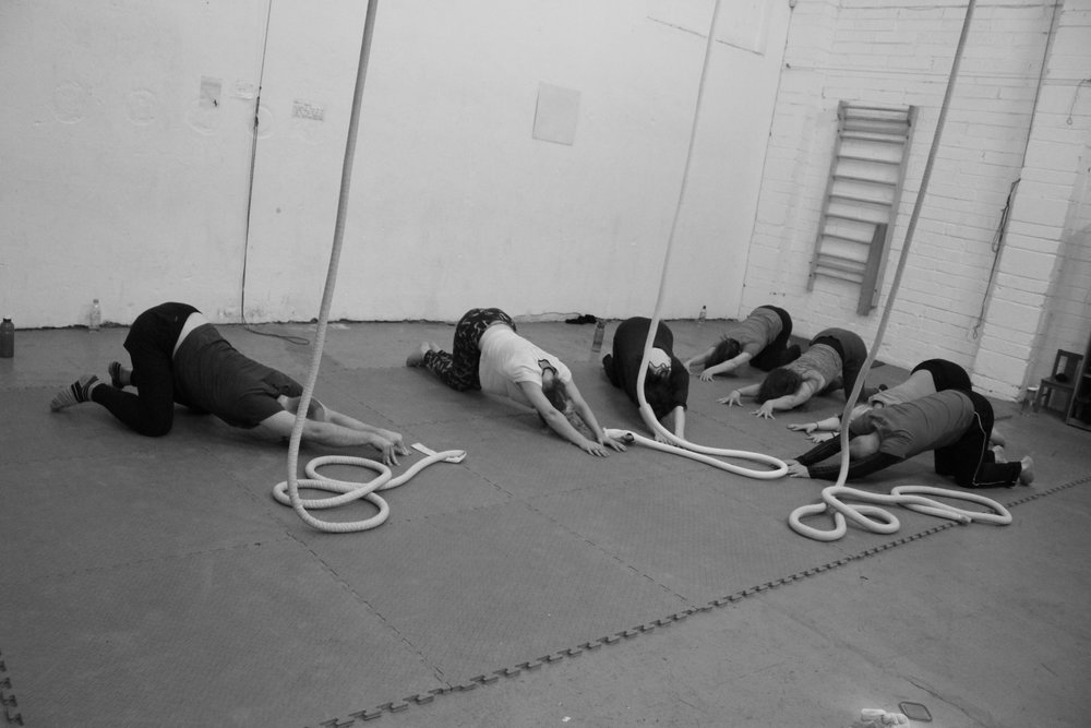 Saturday morning A  erial Rope at Dublin Circus Project