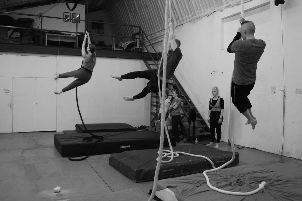 Rope beats! Saturday morning Aerial Rope at Dublin Circus Project