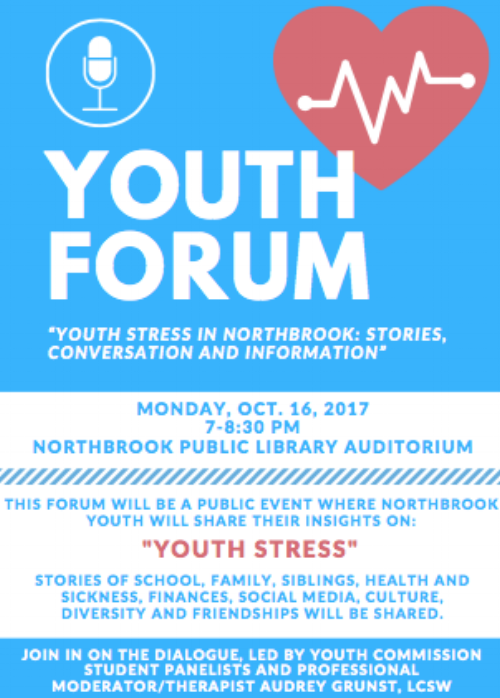 Free Public Admission - Listen to stories of teens who face stress everyday.