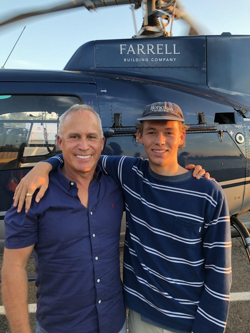 Joe Farrell, Joey Farrell III at East Hampton Airport