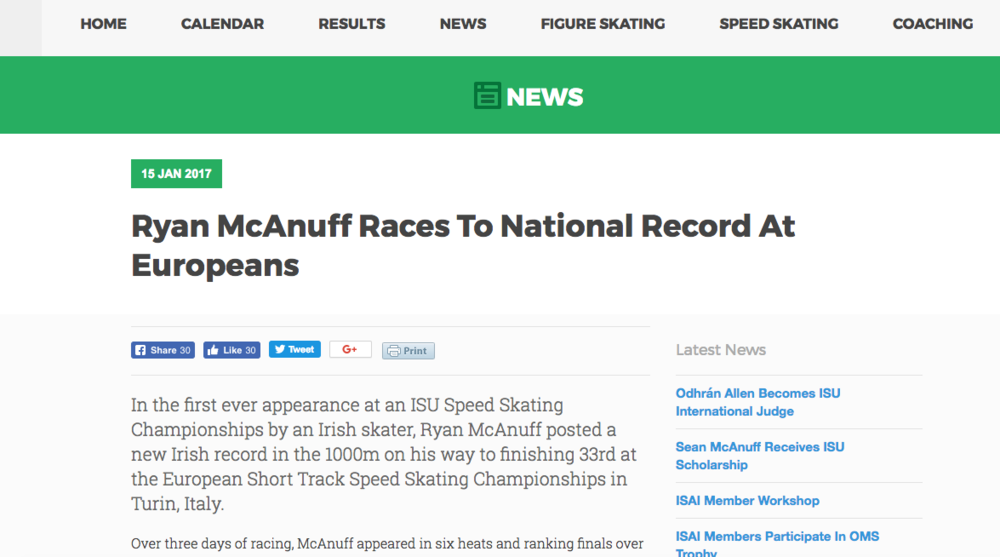 Ryan sets National Record