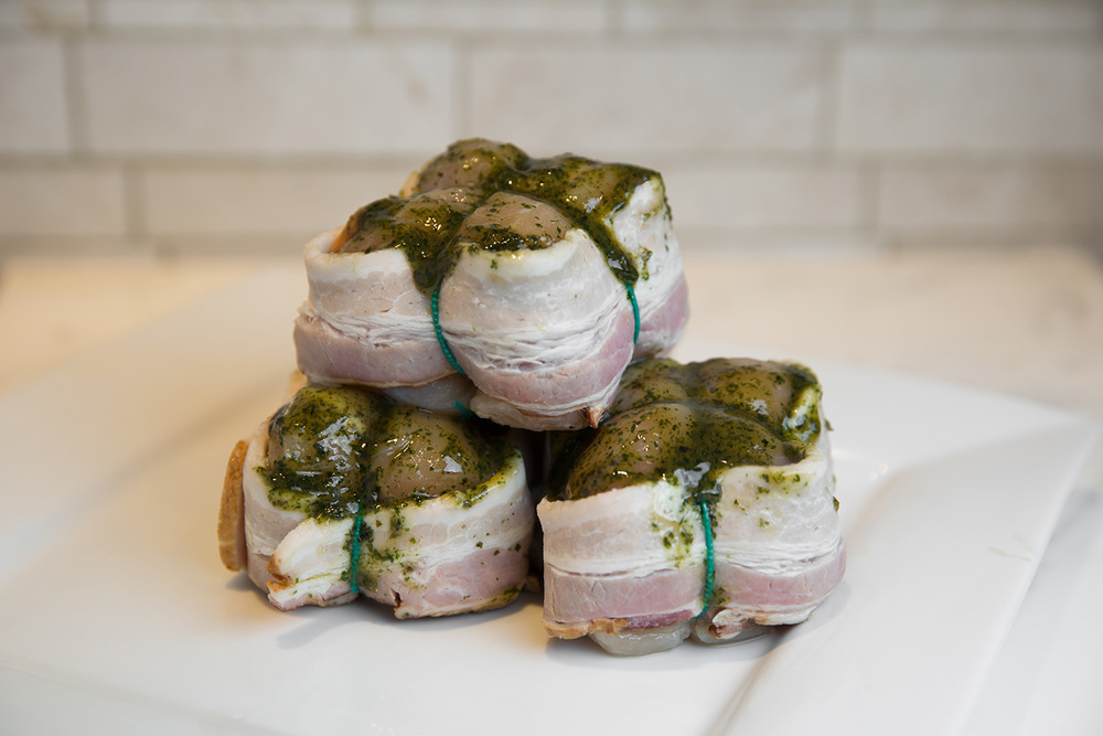 Bacon Wrapped Chicken Breast Cushions