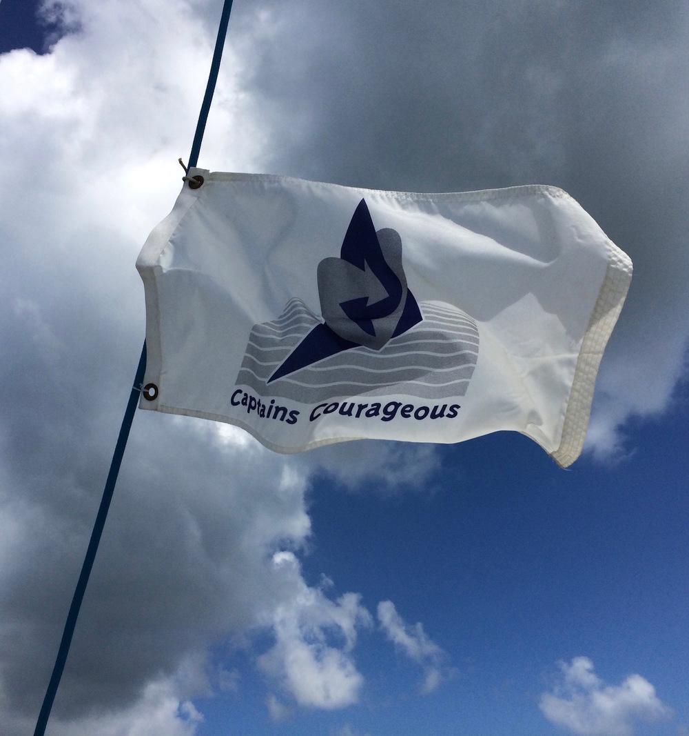CC Flag aloft
