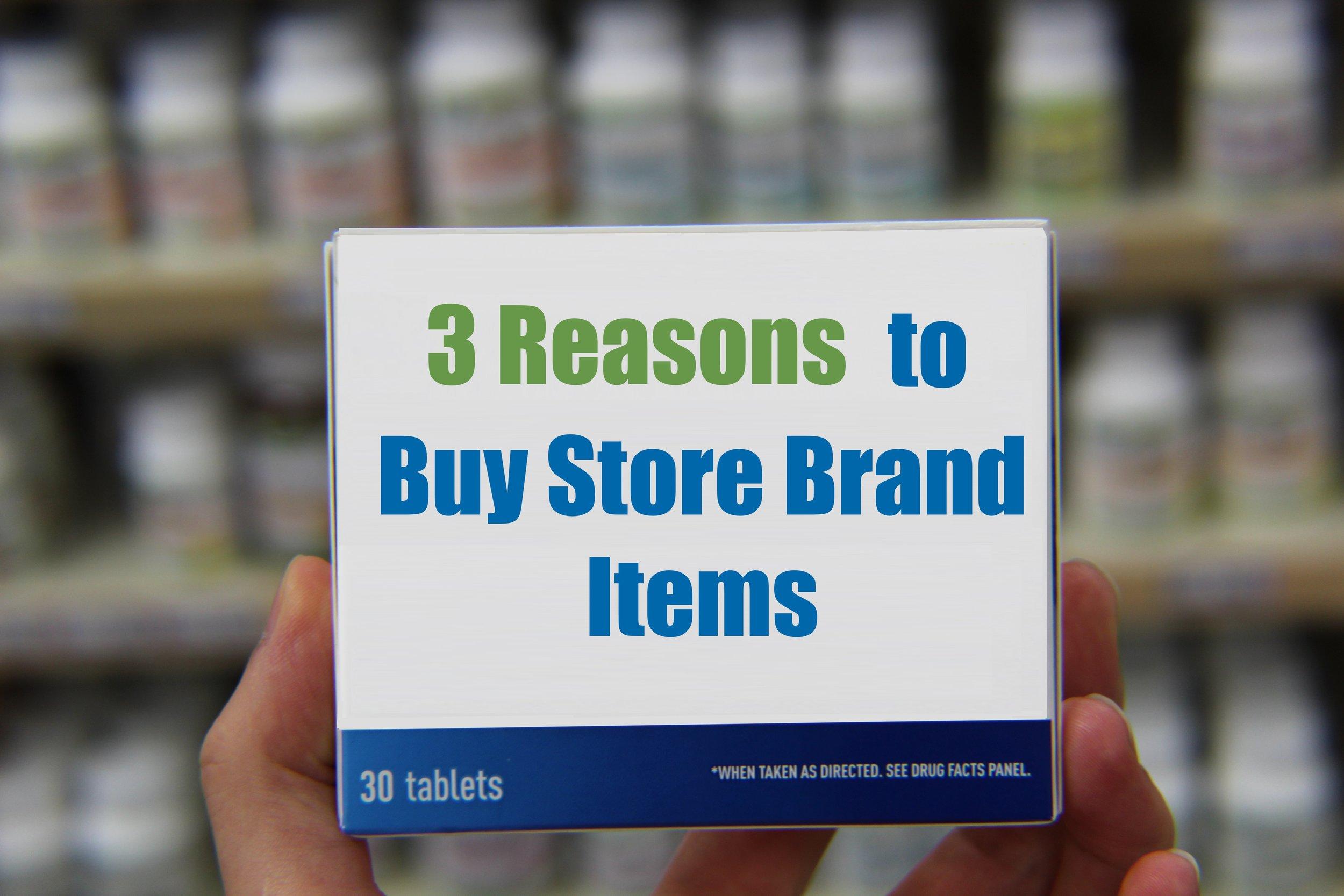 3 Reasons to Buy Store Brand Items — Medicine Center Pharmacy