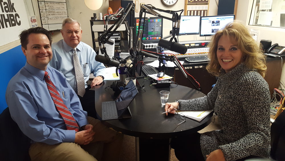 L-R: Health Matters Hosts and Pharmacists Brad and Paul White with Dr. Denise Testa, Audiologist