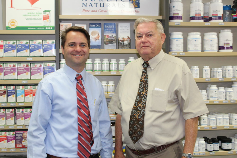 Pharmacists Brad and Paul White