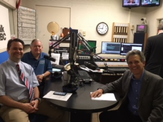 Hosts Brad White, R. Ph. and Paul White, R. Ph. talk with Dr. Paul Turgeon from Eye Centers of Ohio.