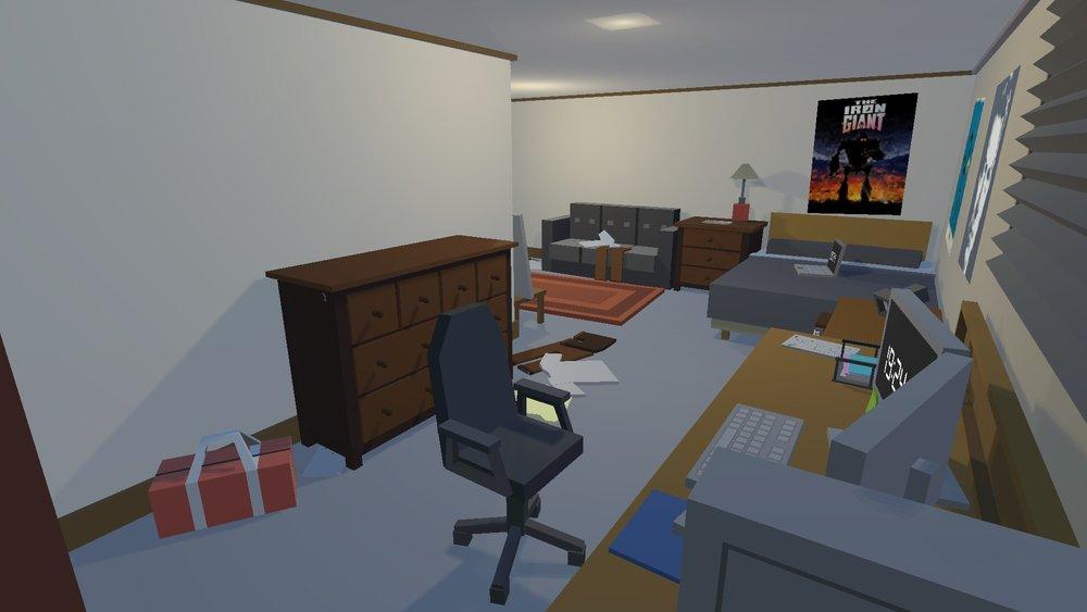 Inside Zeke's room