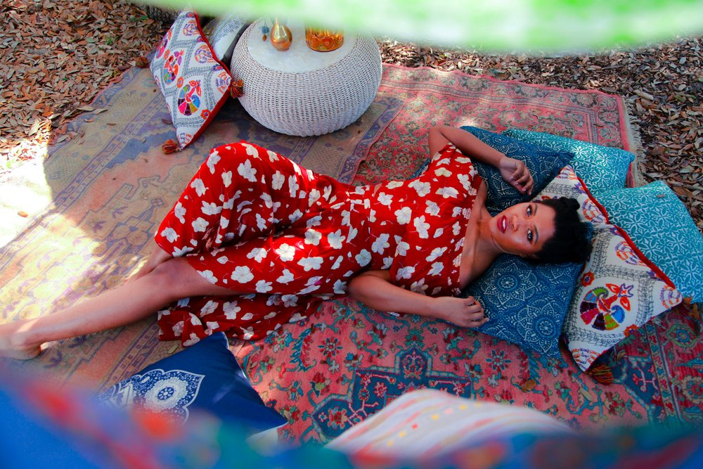 Designer:Flynn Skye Photographer: Stephanie Stein Hair Stylist: Michelle Atwood MUA: Sheila Clare Walsh Wardrobe Stylist: Kristen Milford Set Design: The French Eclectic, Katie Elmore and Theresa Wolf
