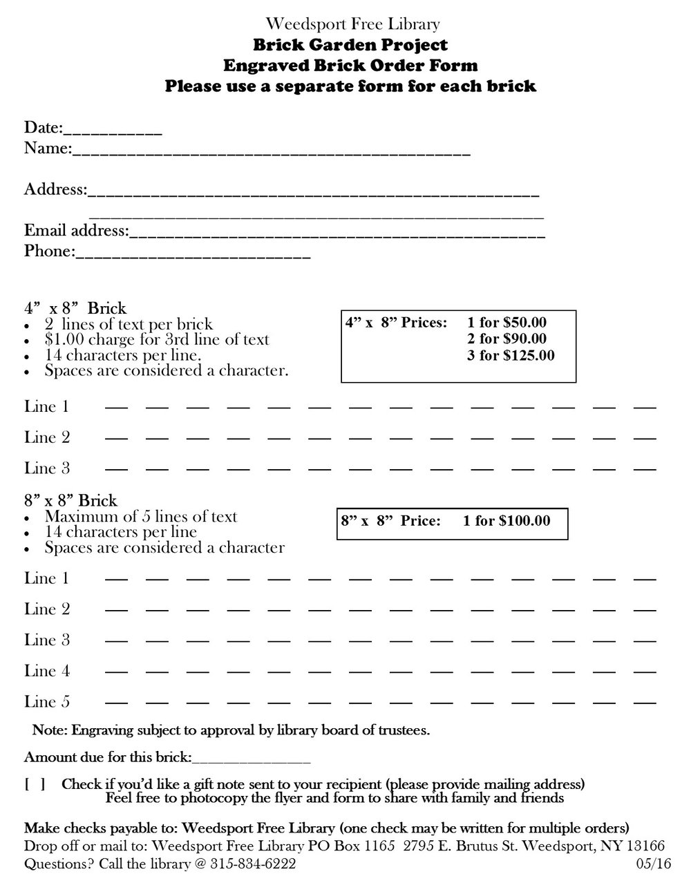 Click on form to print
