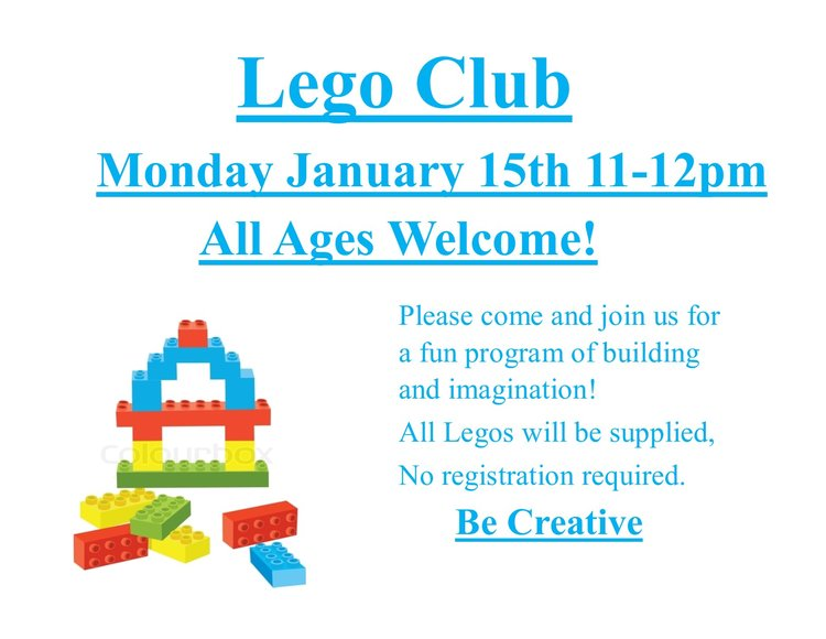 Lego Club on Martin Luther King Day (Monday, Jan., 15th, 11 AM ...