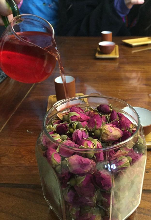 Rose tea at tea tasting in Beijing.jpg