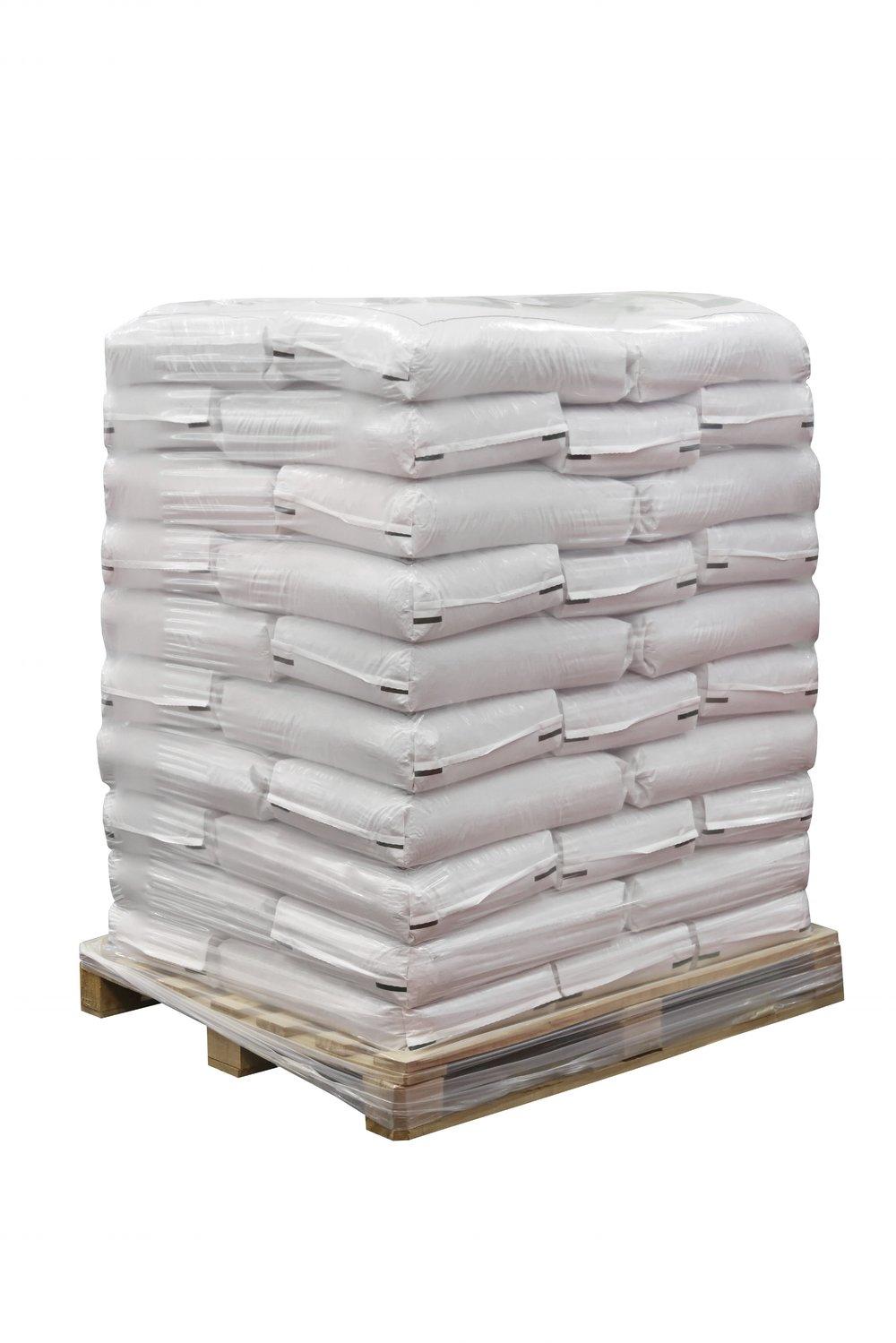 Food + Pharmaceutical grade material in 55lb bags