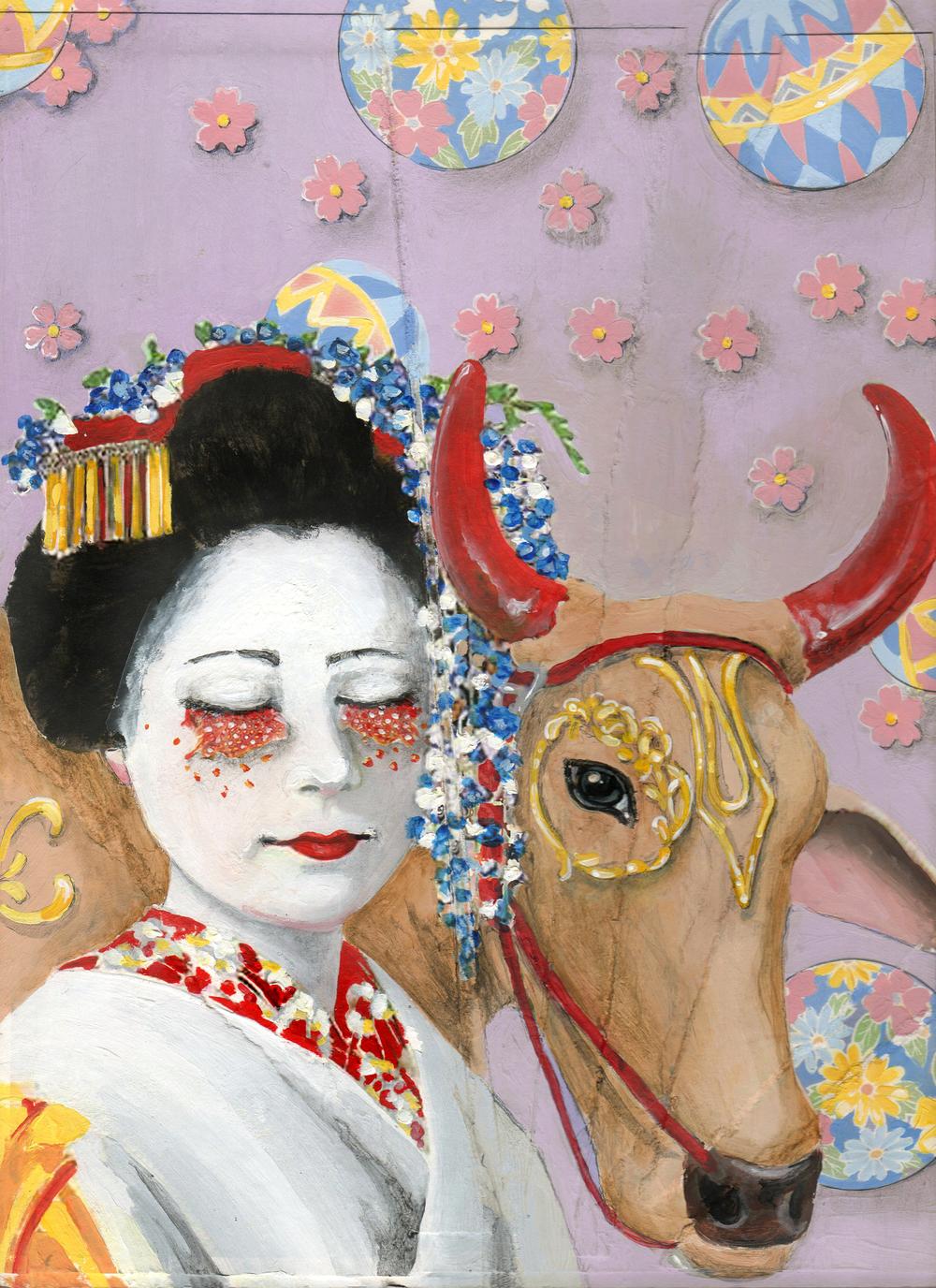 Geisha with Cow 2