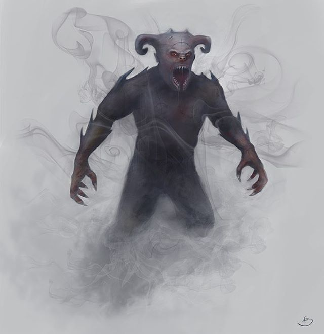 From the #Solsturan #DnD5e campaign setting, revealing: the Soul-Snatcher! (artwork by Fredrik Skarstedt) The Soul-Snatcher is a demonic creature that feasts on both the flesh and souls of the creatures it slays... (read more: http://tricorngames.com/solsturan-bestiary ) . . . . . . . . #tricorn #tricorngames www.tricorngames.com #boardgames #boardgame #tabletop #tabletopgames #game #games #gamer #gaming #boardgamer #boardgamegeek #bgg #gamer #gaming #DnD #rpg #dungeonsanddragons #ttrpg #roleplay #fantasy #fantasyroleplay #penandpaper #campaign
