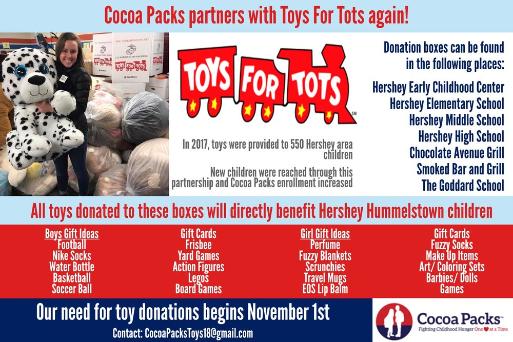 Toys For Tots Cocoa Packs Inc